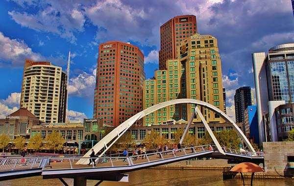 Melbourne edificios en el centro