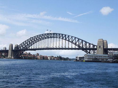 El imponente Puente del puerto de Sidney